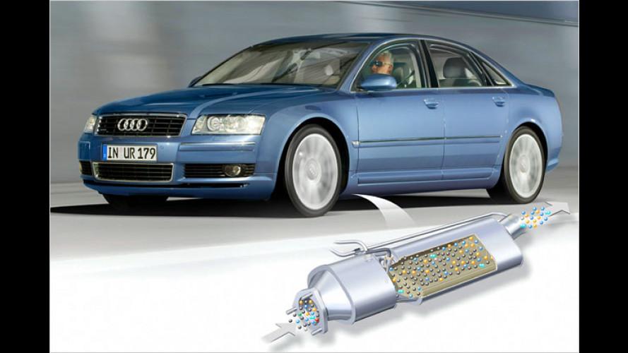Audi A8 3.0 TDI (2004): Dreiliter-Diesel bekommt Rußpartikelfilter