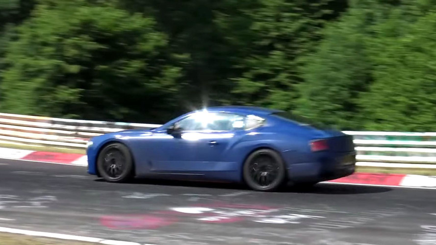 La future Bentley Continental s'attaque au Nürburgring
