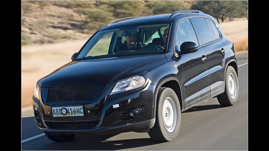 VW Tiguan: Ein Knopfdruck für alle Offroad-Funktionen