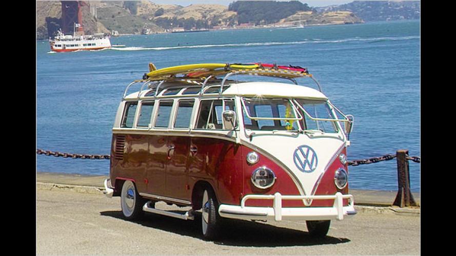 Super-Samba: Alter VW Bulli trägt modernste Technik