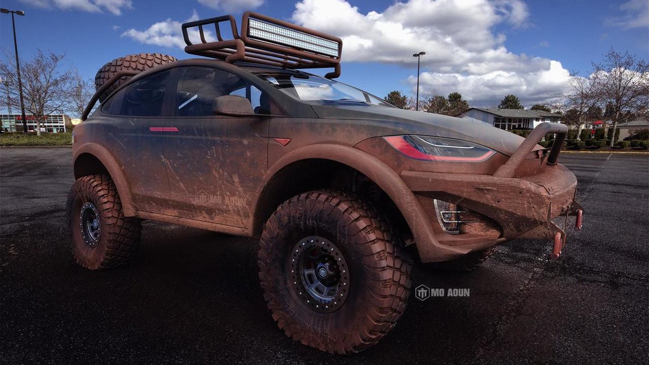 Off-Road Tesla Model X render