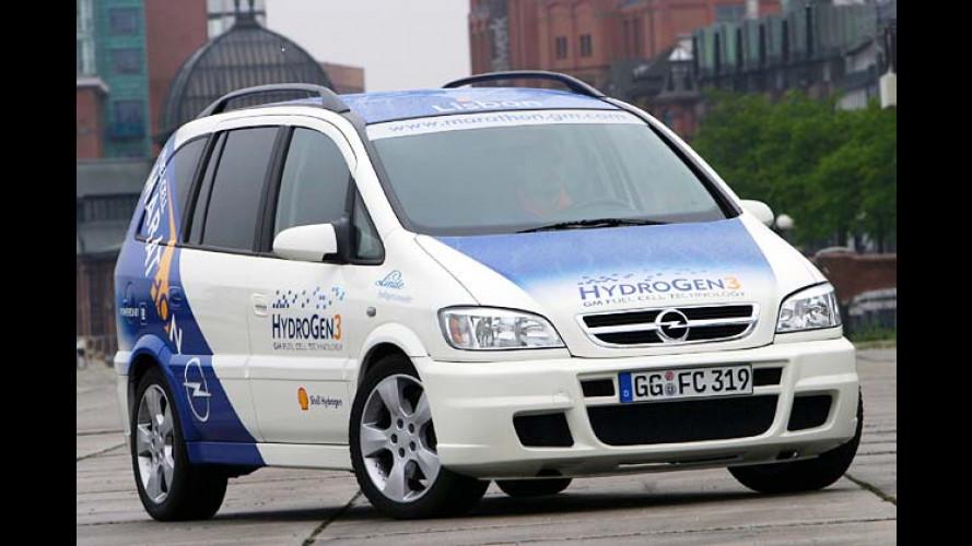 HydroGen3-Dauertest: Opel Fuel Cell Marathon in Hamburg