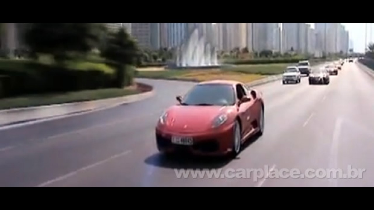 Passeio de 100 Ferraris de Dubai até Abu Dhabi