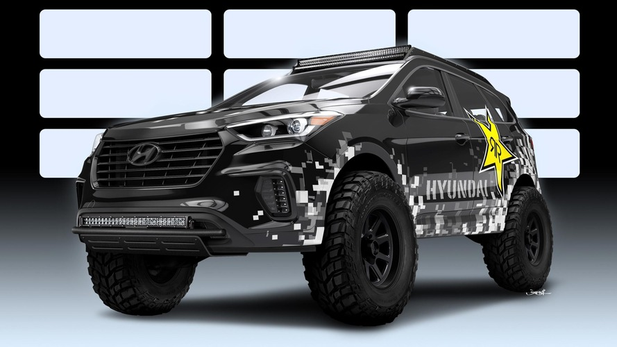 Hyundai Santa Fe takes a shot of nitrous from Rockstar Performance