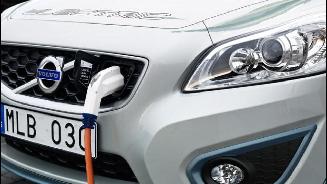 [Copertina] - Volvo C30 Electric: 1,5 ore per la ricarica