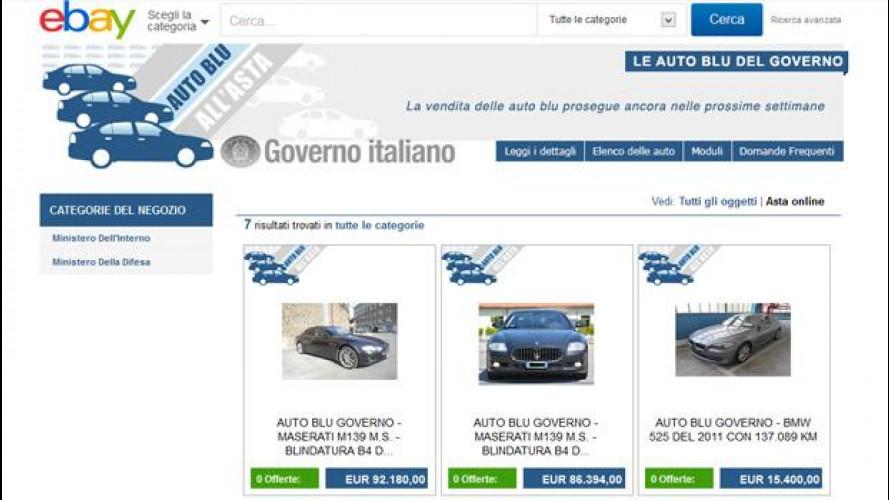 [Copertina] - Auto blu all'asta su eBay: nessuna offerta per le Maserati di La Russa