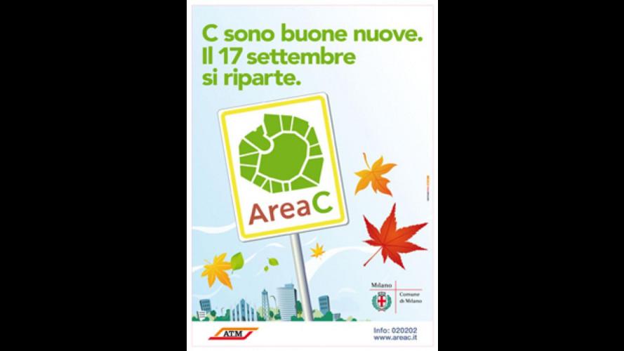 Milano, il 17 settembre riparte Area C