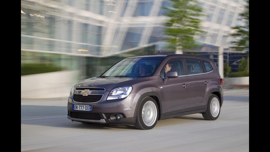 Chevrolet Orlando 2012, anche a GPL