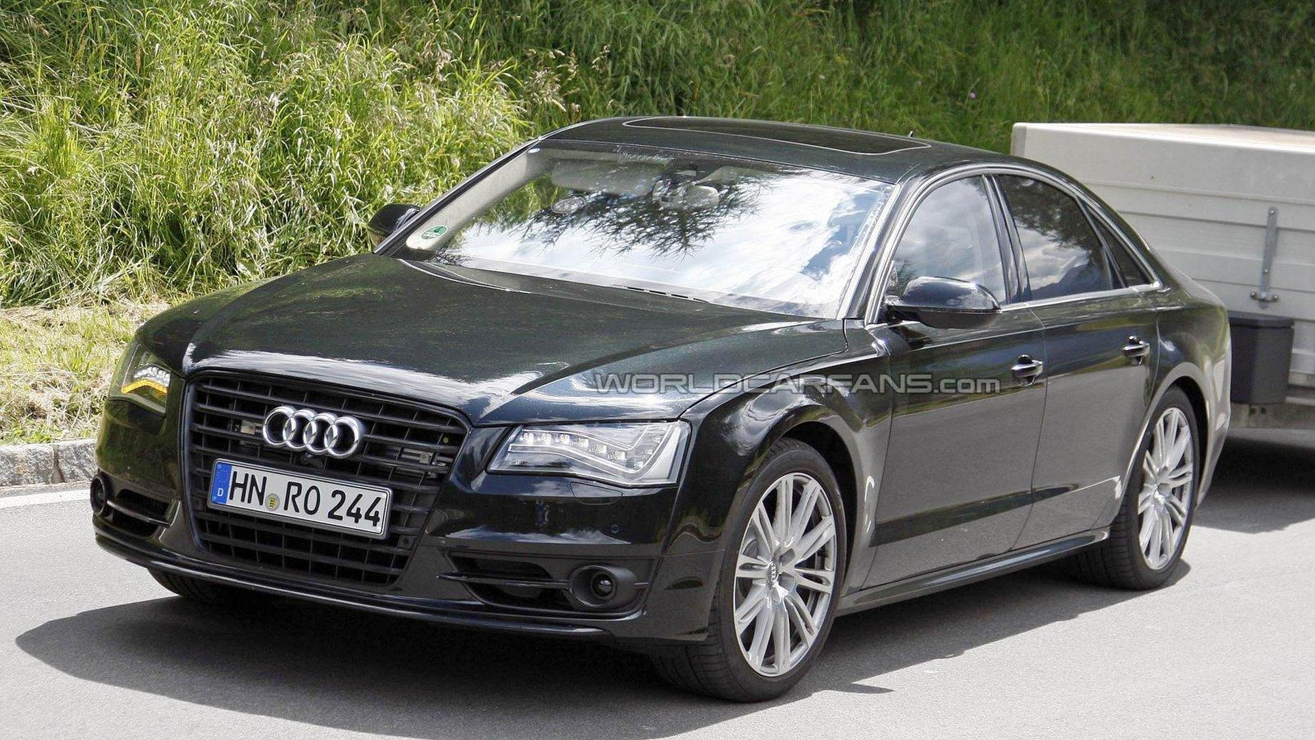New Audi S8 Spied Testing on the Ring with No Camo