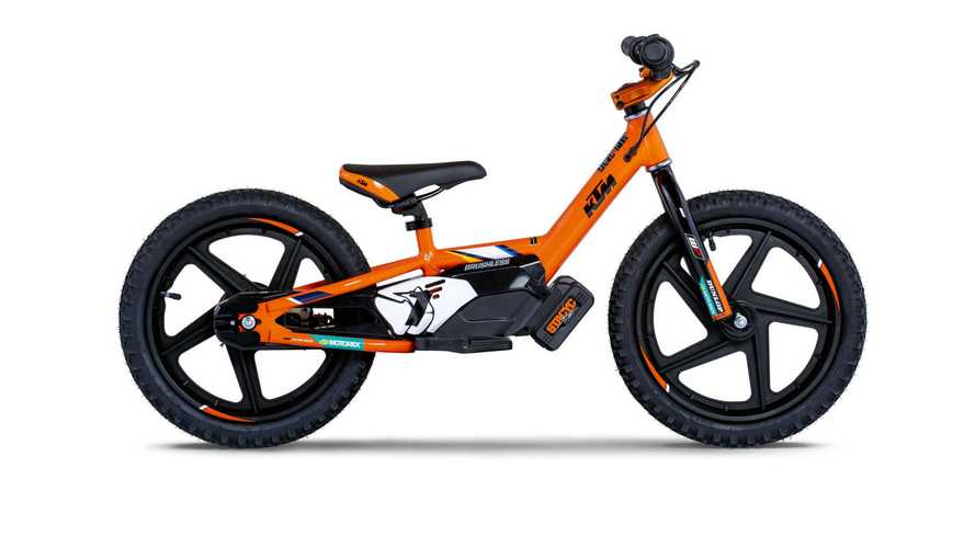 KTM Introduces Factory Replica StaCyc Electric Balance Bikes For Kids