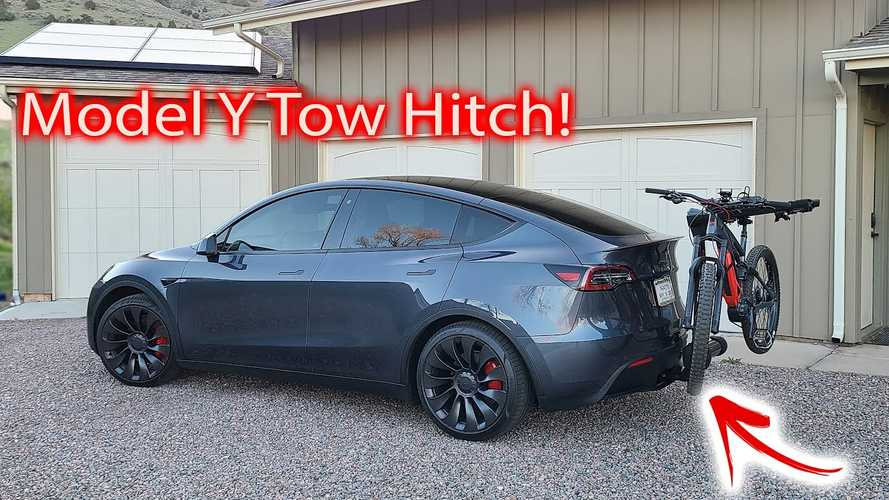 Tesla Model Y With Tow Hitch: Install Details And Information