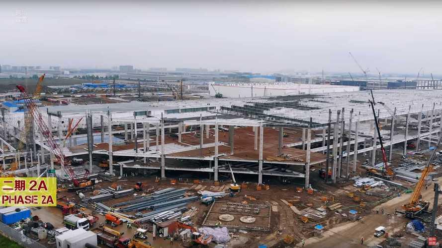 Tesla Giga Shanghai Construction Progress May 6, 2020: Video
