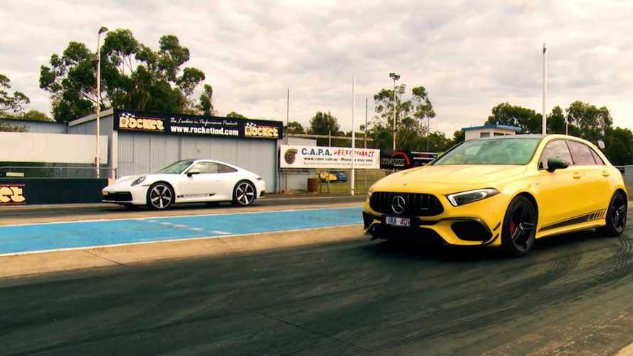 Meglepően szoros eredmény a Mercedes-AMG A45 S és a Porsche 911 Carrera harcában