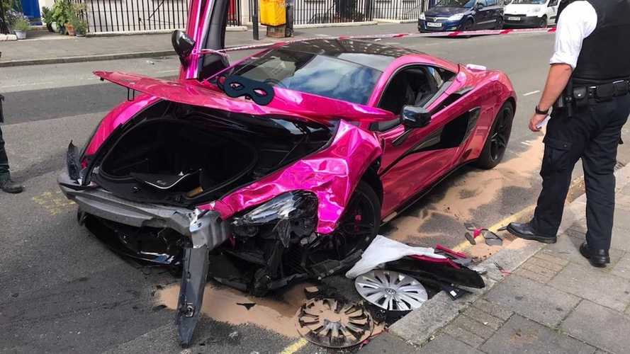 McLaren 570s accidentado