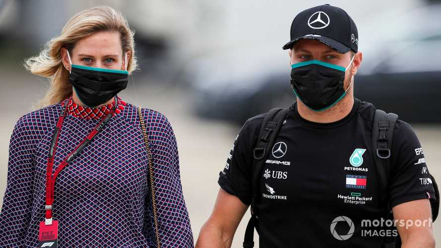Tiffany Cromwell and Valtteri Bottas at 70th Anniv. British GP 2020