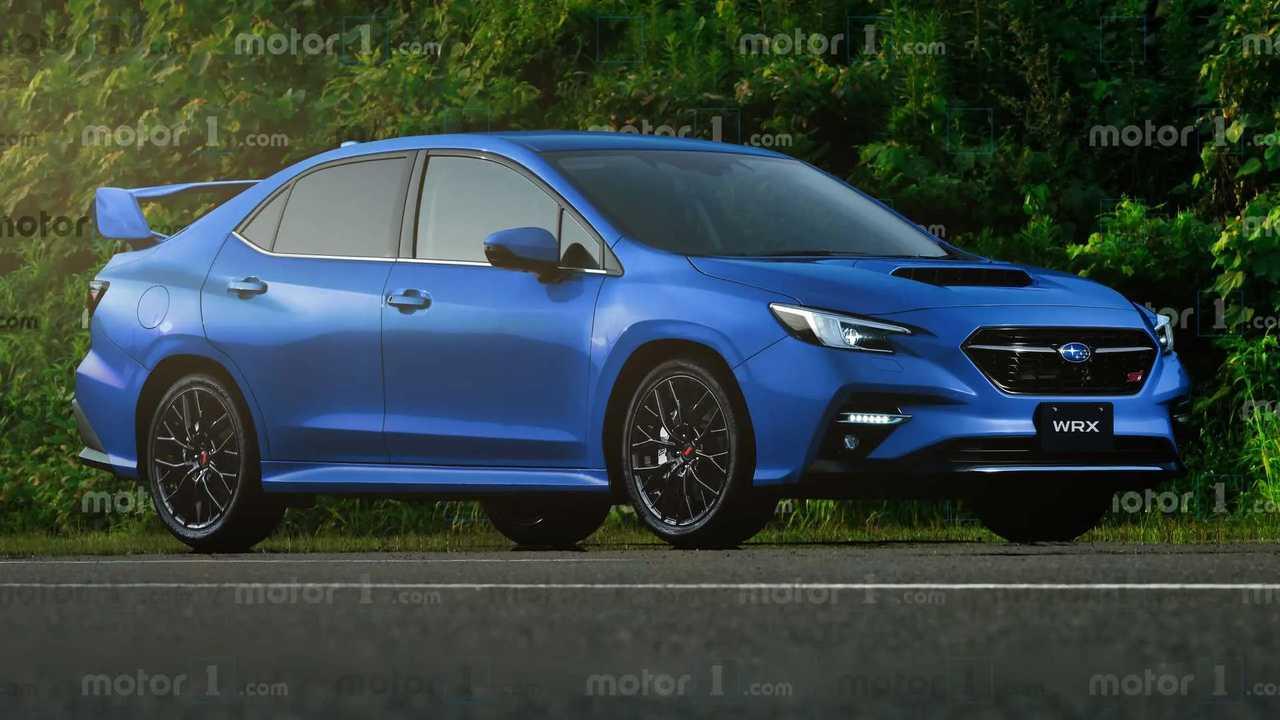 2022 Subaru WRX Unofficial Rendering Blue