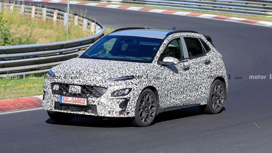 Hyundai Kona N Spied Testing With Roll Cage And Fat Exhausts