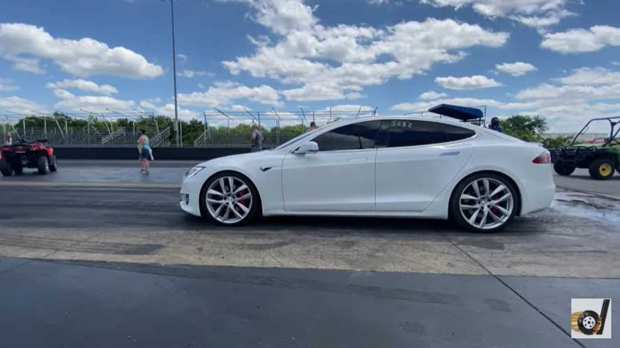 Tesla Model S with Cheetah Stance grabs new Tesla quarter mile record