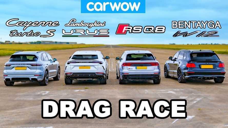 Volkswagen SUV drag Race