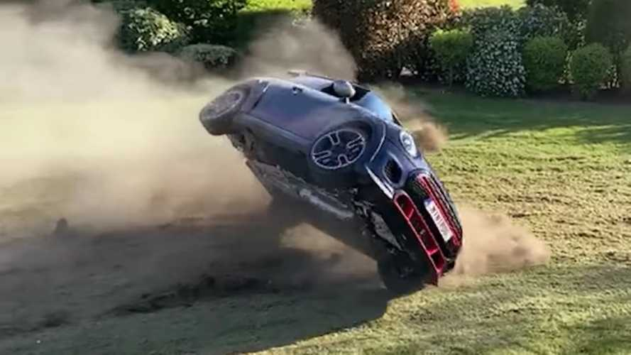 Watch Mini JCW GP roll over shortly after owner takes delivery