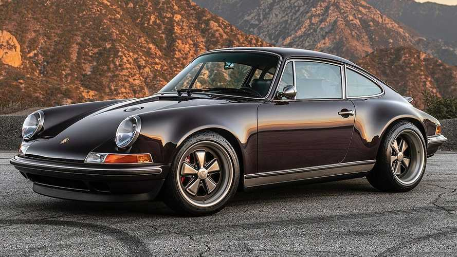 Singer 911 Anglet Commission: un precioso restomod, color berenjena