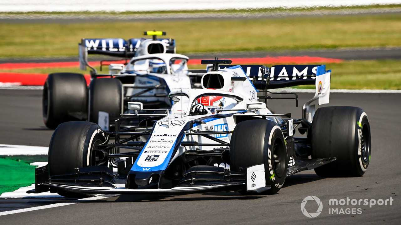 George Russell and Nicholas Latifi at 70th Anniversary GP at Silverstone 2020