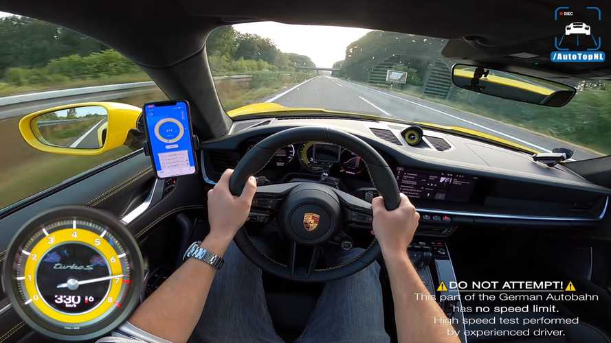 VIDÉO - La Porsche 911 Turbo S poussée à sa vitesse maximale