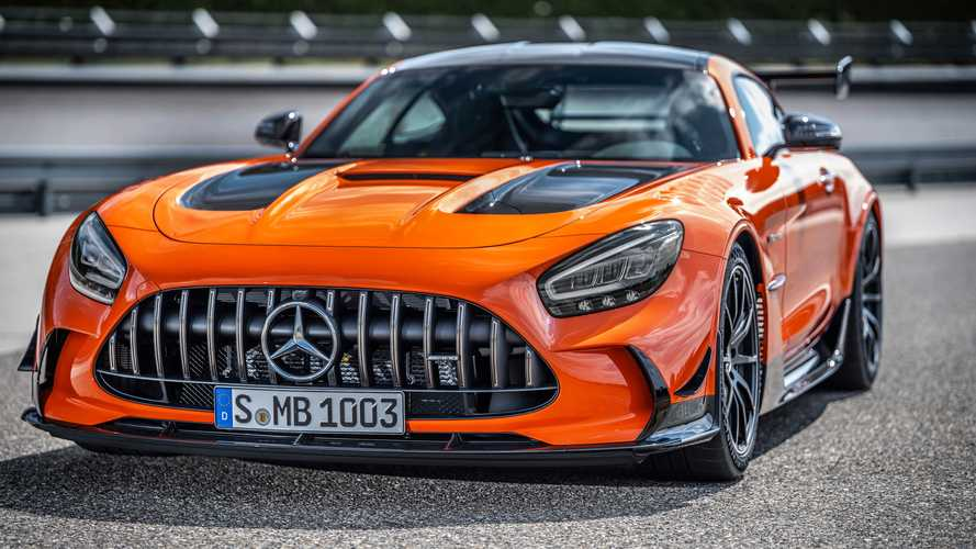 2021 Mercedes-AMG GT Black Series with AMG magma beam color