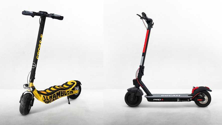 Monopattini elettrici Ducati e Scrumbler
