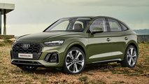 2021 Audi Q5 Sportback rendering based on 2021 Q5 facelift
