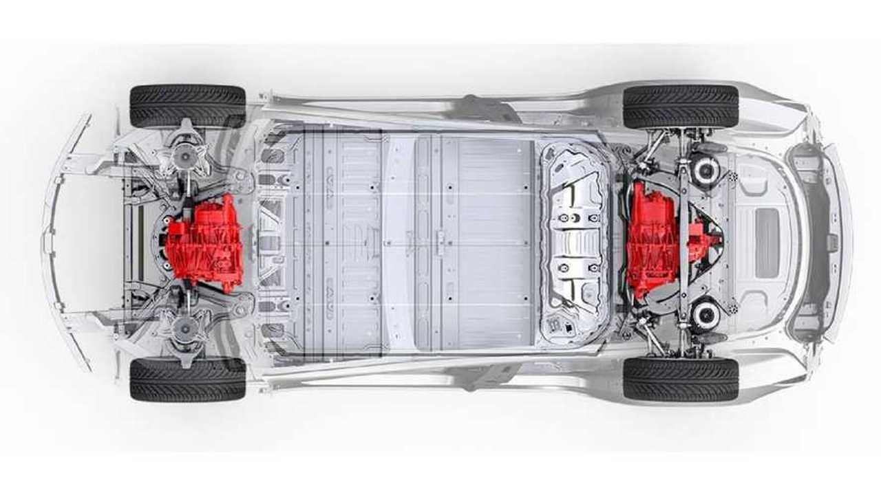 Tesla показала полный привод для Model 3
