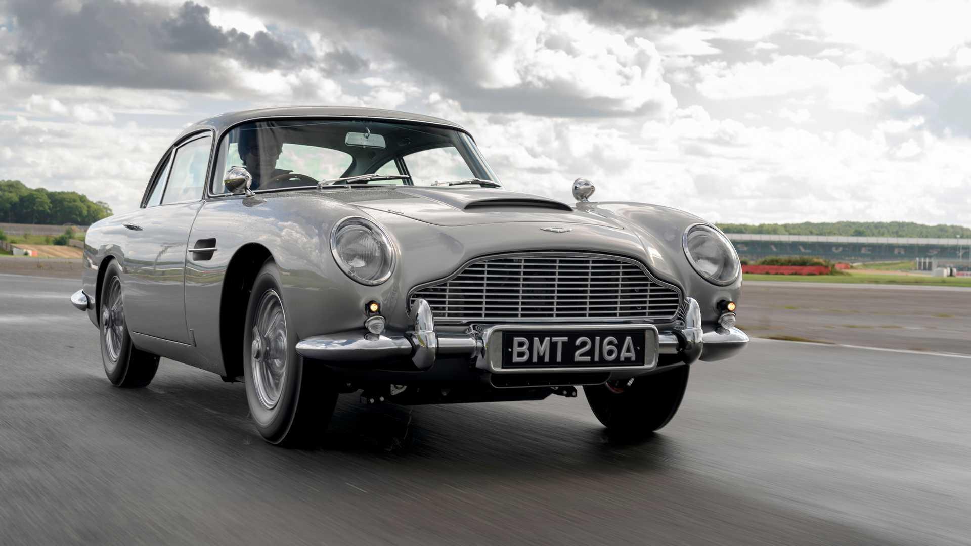 Watch Aston Martin S 3 5m James Bond Car Flex Its Weapon Arsenal