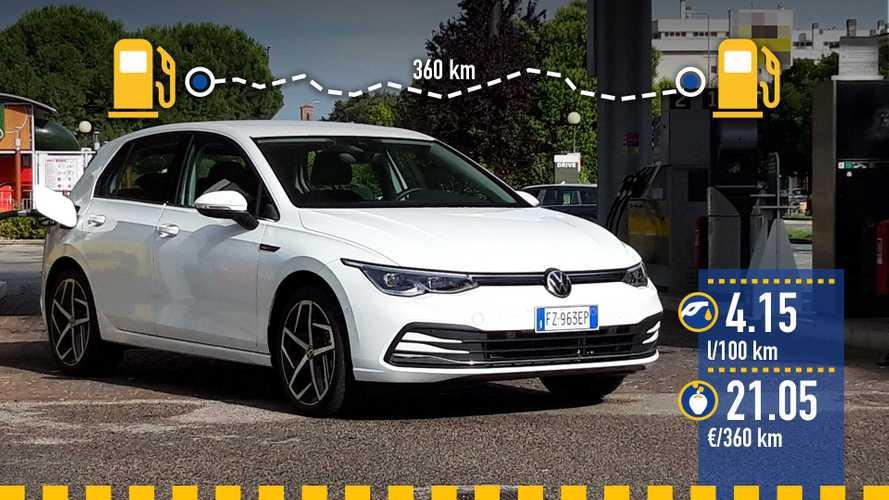 Volkswagen Golf mild hybrid, la prova dei consumi reali