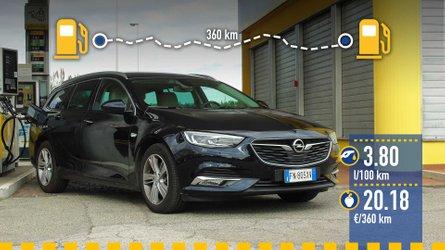 Opel Insignia diesel, la prova dei consumi reali