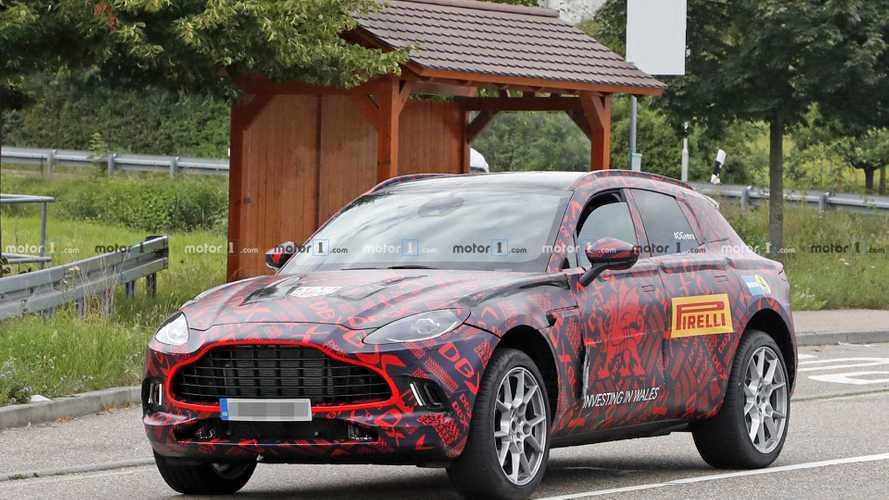 2020 Aston Martin DBX SUV new spy photos