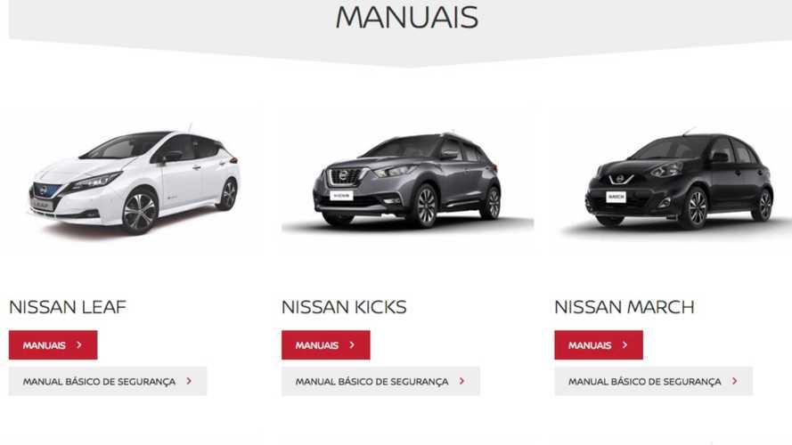 Nissan: manual do proprietário passa a ser digital em toda gama