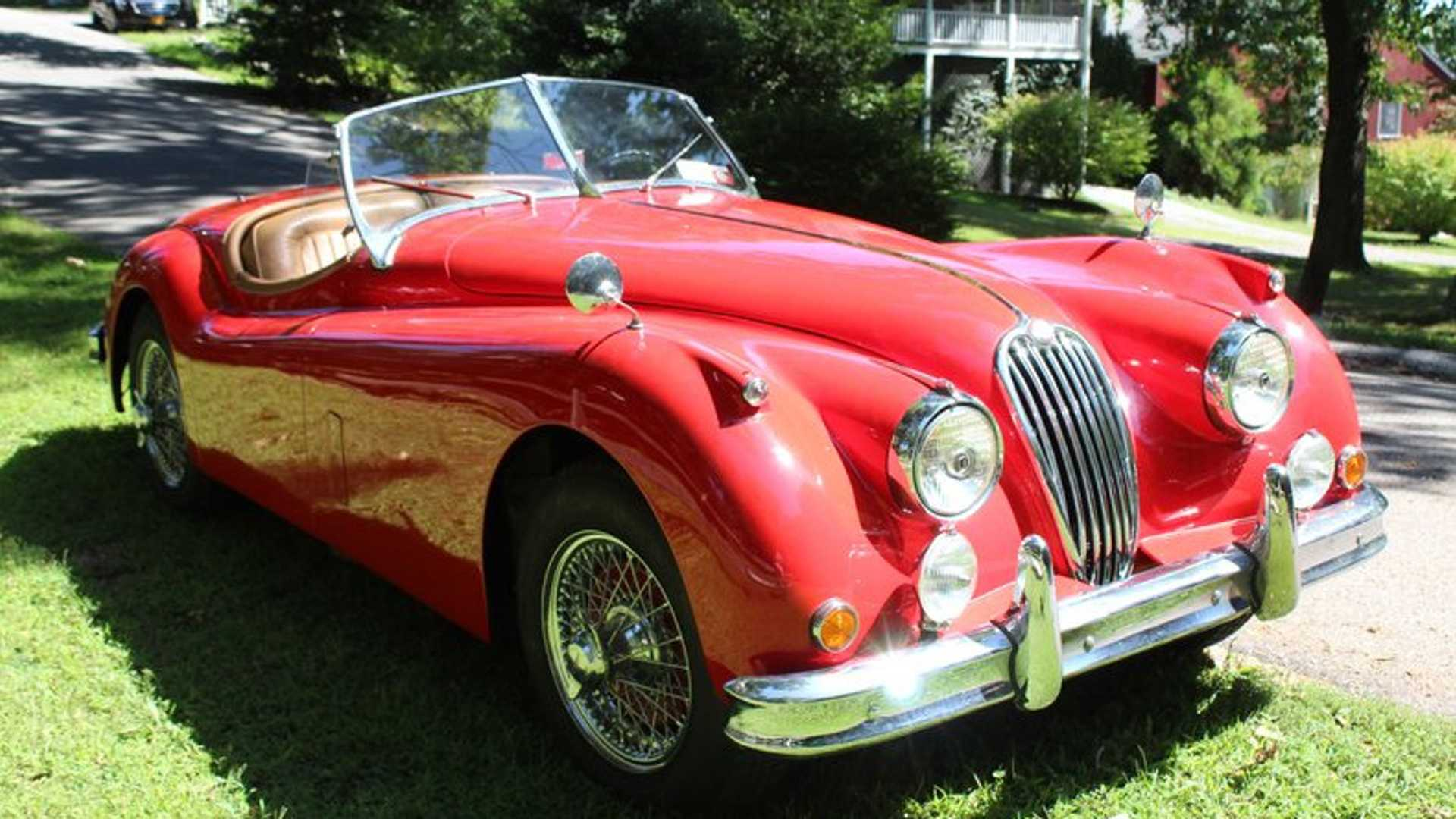 "[""Restored 1956 Jaguar XK 140 MC""]"