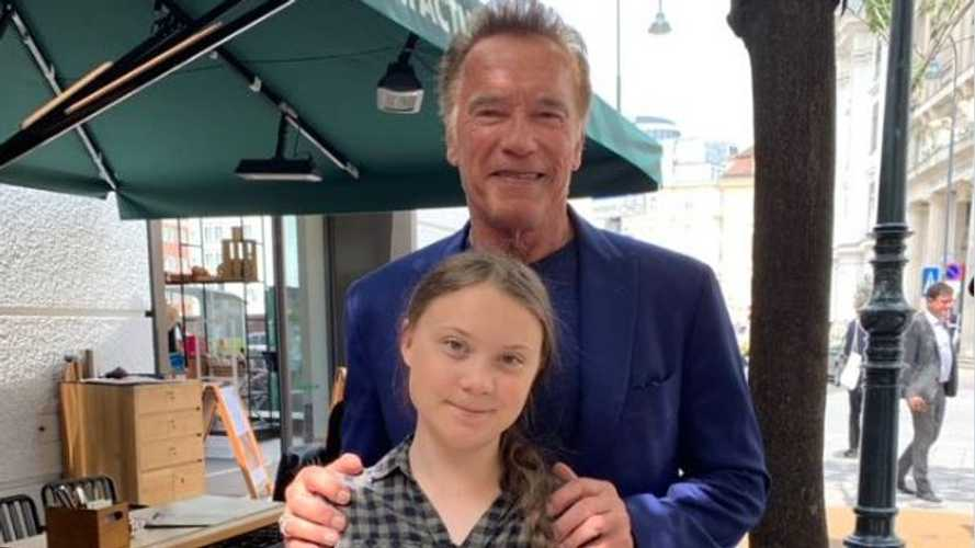 Arnold Schwarzenegger arranges for a Tesla Model 3 for Greta Thunberg