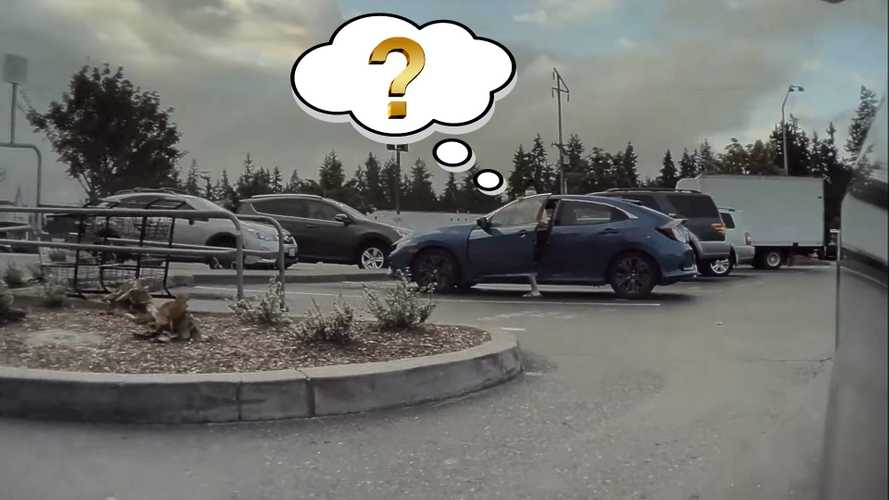 TeslaCam Films Guy Surprised To See Driverless Smart Summon In Action