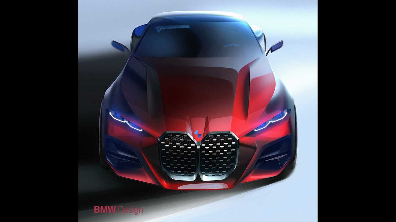 BMW Concept 4 Debuts With Massive Double Kidney Grille