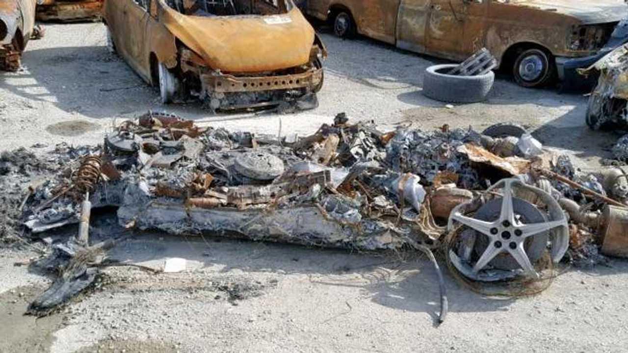 Ragno Ferrari 458 bruciato