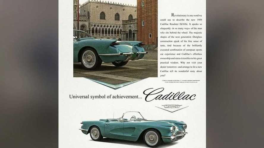 1959 Cadillac De Ville Roadster Rendering