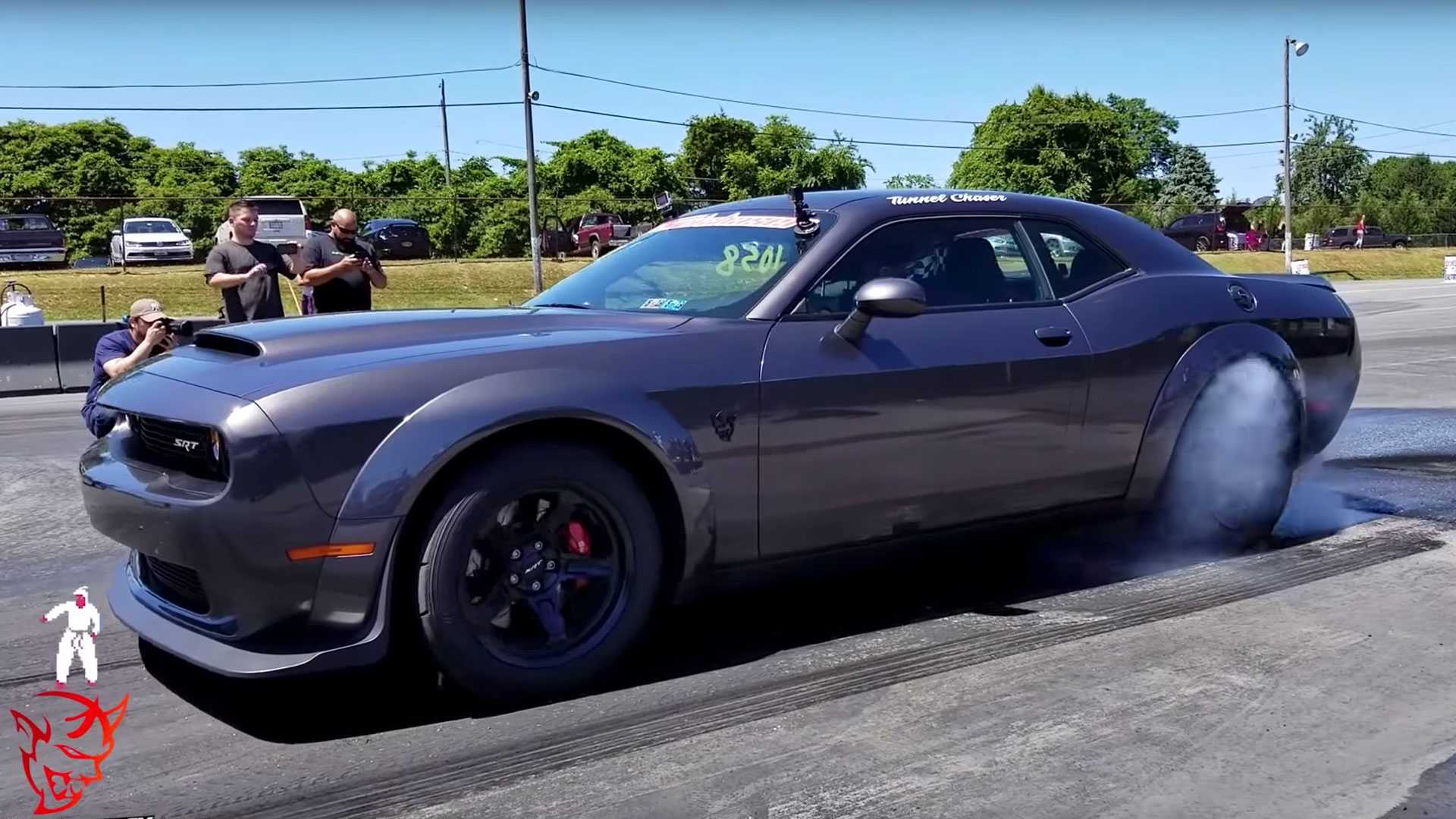 Watch The Dodge Demon Beat On Europe's Finest Supercars