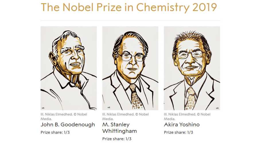 Lithium-Ion Inventors Win The Nobel Prize In Chemistry 2019