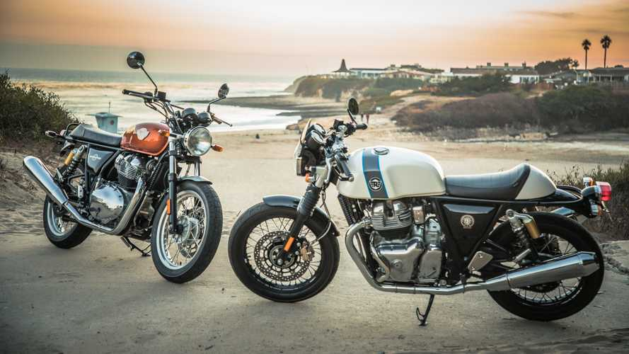 "Royal Enfield começa a vender as ""twins"" Interceptor e Continental GT"