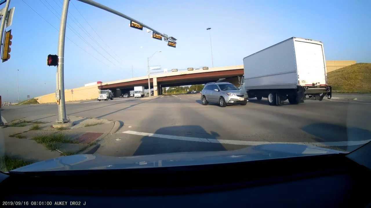 TeslaCam Shows What Can Happen When A Truck Blows A Red Light