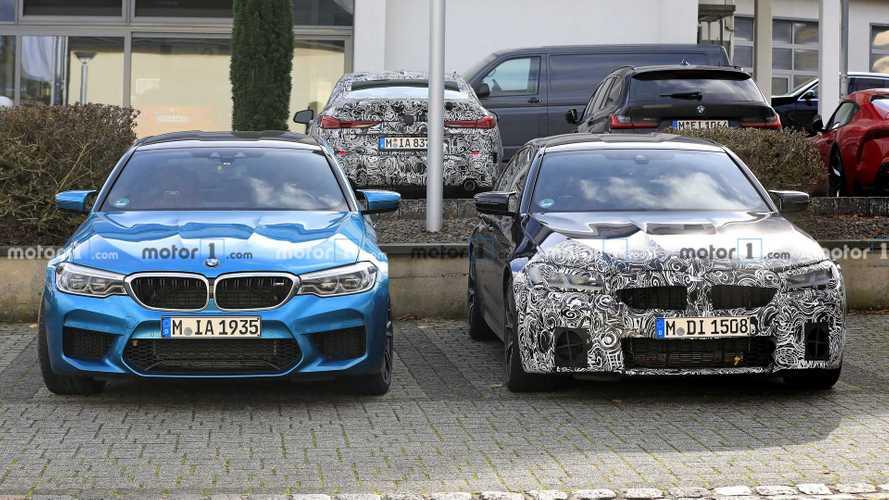 BMW M5 facelift new spy photos