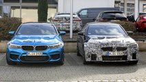 BMW M5 facelift new spy photos