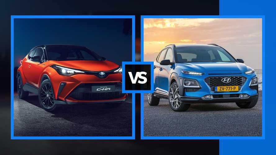 Toyota C-HR restyling vs Hyundai Kona, il confronto fra SUV ibridi