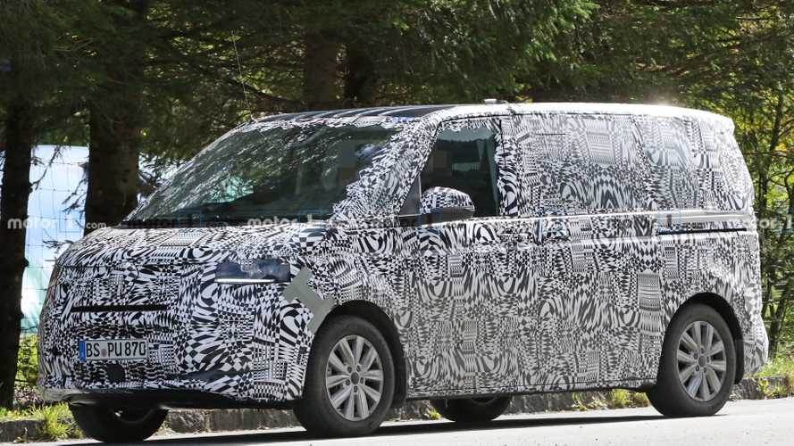 VW Transporter T7 Spied Wearing Production Body Panels